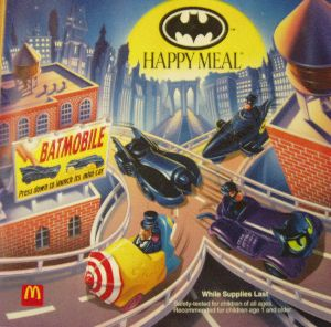 McDonald's Translite of the Batmobile and Batman