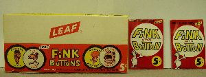 Box with 24 unopened packs of Fink buttons