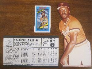 Original Art Work of Vida Blue to the 1980 Kelloggs 3-D Super Stars Set