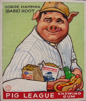 Babe Ruth 1933 Goudey Parody Painting