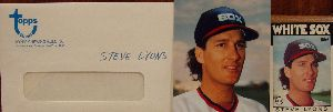 1986 Topps Traded Original Artwork of Steve Lyons, Chicago White Sox