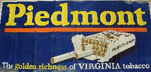 Piedmont Cigarettes Advertising Banner