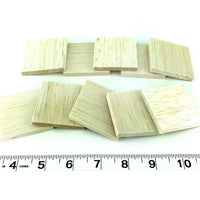 "2"" Balsa Thins - 1/4"" Thick - 20 Pack"