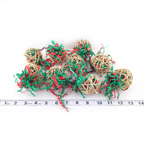 Christmas Edition Mini Stuffed Crinkle Ball talon toy