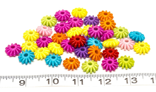 Plastic Gear Beads