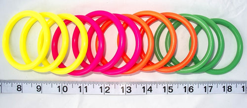 Neon Plastic Rings for bird toys