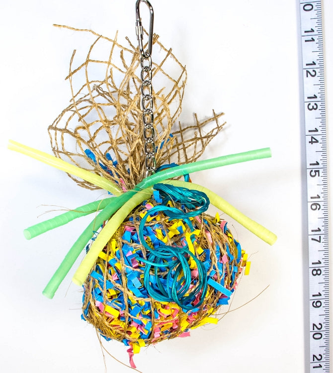Party Ball foraging bird toy
