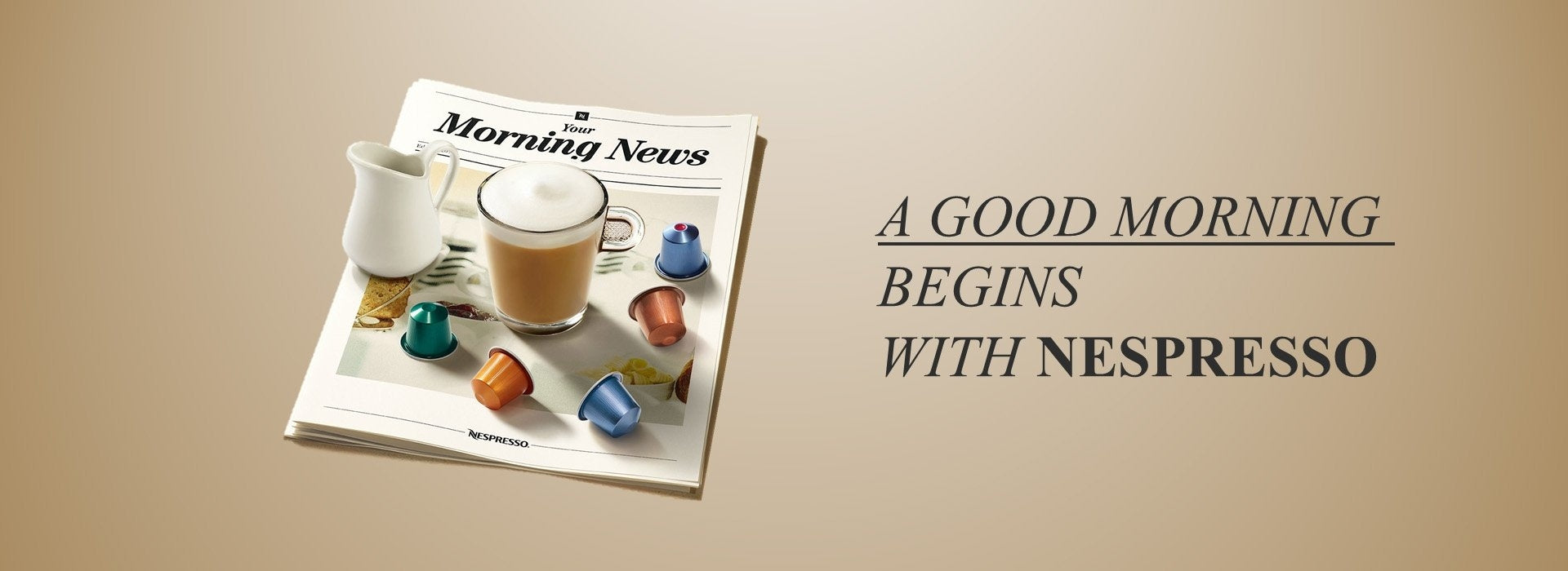 A Good Morning begings with Nespresso