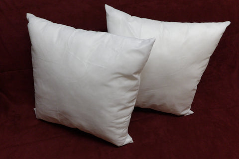 Set of 2-Pillow Insert Sham Square Form Polyester, Standard/White - Made in USA