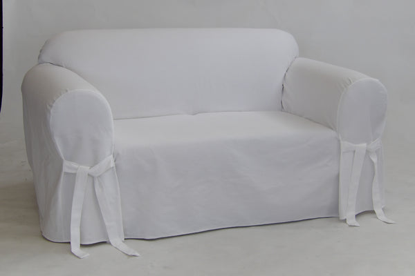 Twill Round Arm Loveseat