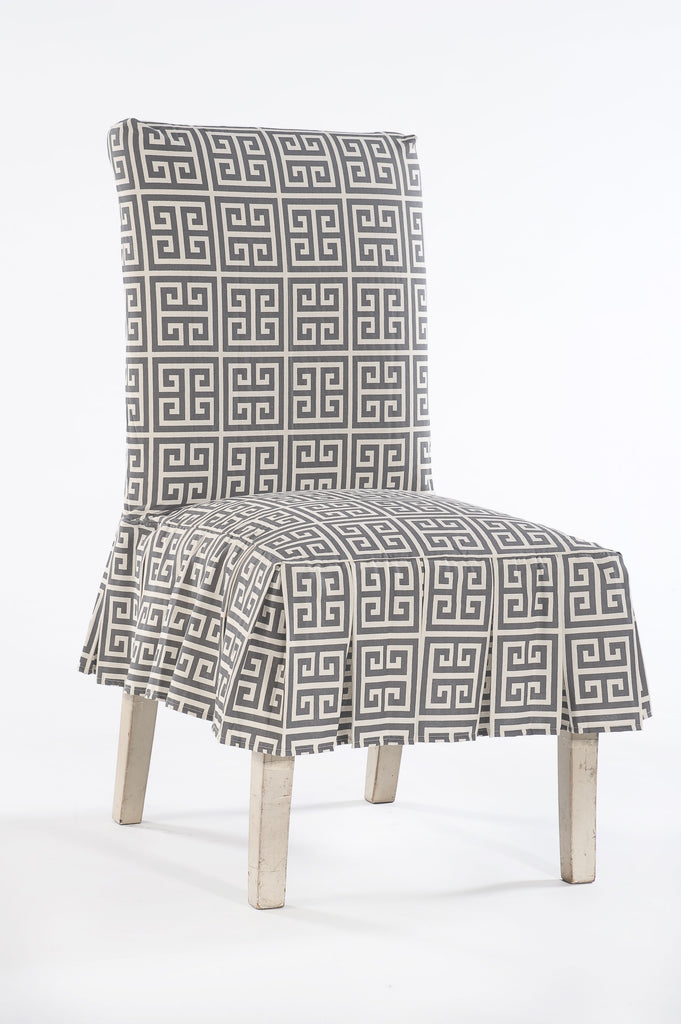 Roman Key Dining Chair Slipcover