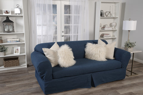 Washed Denim 2 Piece (sofa or loveseat or chair)