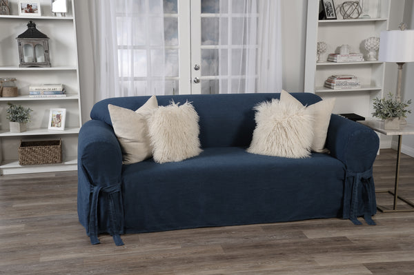 Denim one piece slipcover