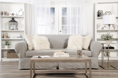 Twill Two Piece Sofa Slipcover