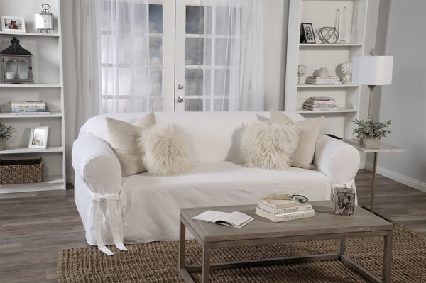 Twill Round Arm Sofa