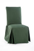 Cotton duck long skirt dining chair slipcover