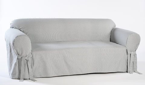 Ticking Stripe one piece slipcover (sofa or loveseat)