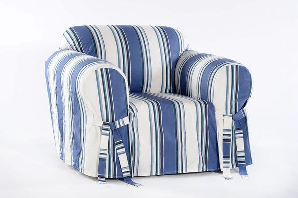 Classic Stripe one piece Chair slipcover