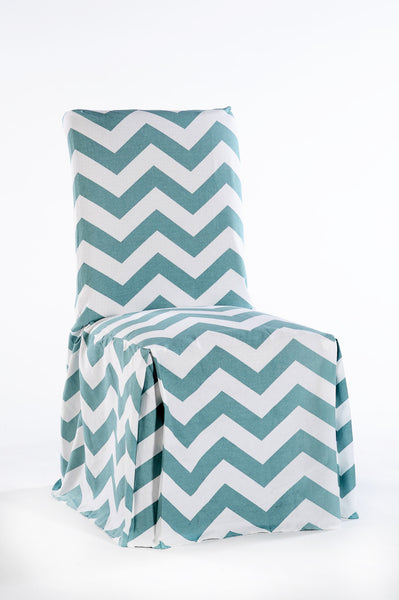 Chevron Print Corner Pleat