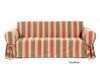 Classic Stripe one piece Loveseat slipcover