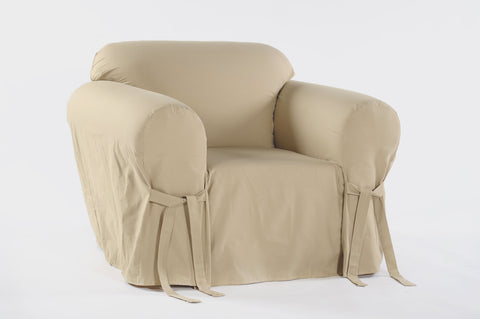 Twill Round Arm Chair