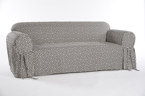 Roman Key One Piece Sofa Slipcover