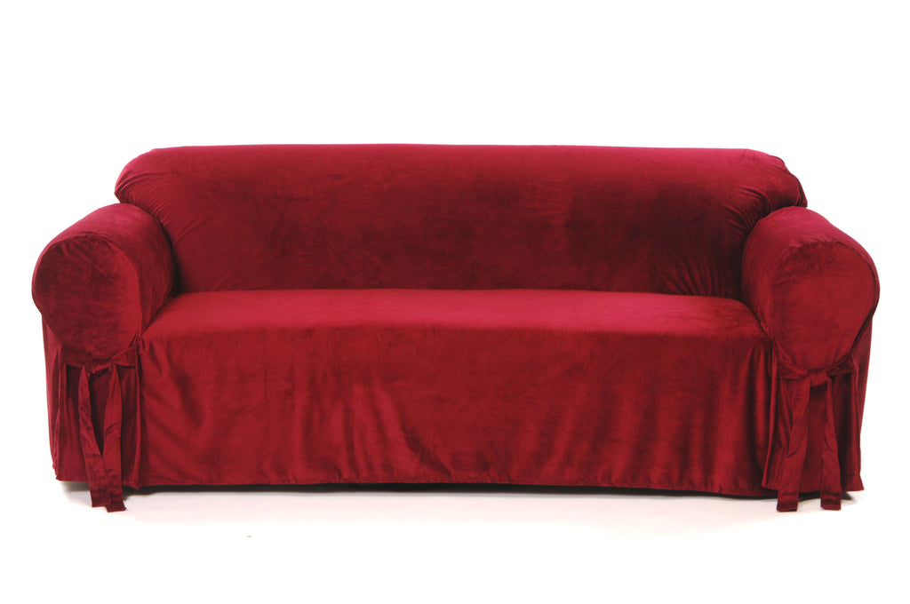 Velvet one piece Loveseat slipcover