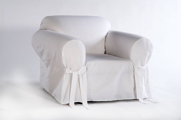 Cotton Duck one piece Chair slipcover