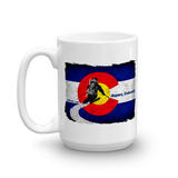 Colorado Flag Downhill Skiing Mug