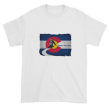 Colorado Flag Downhill Skiing T-Shirt