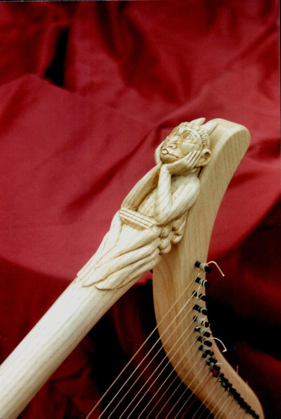 Medieval Harp 20 strings decorated