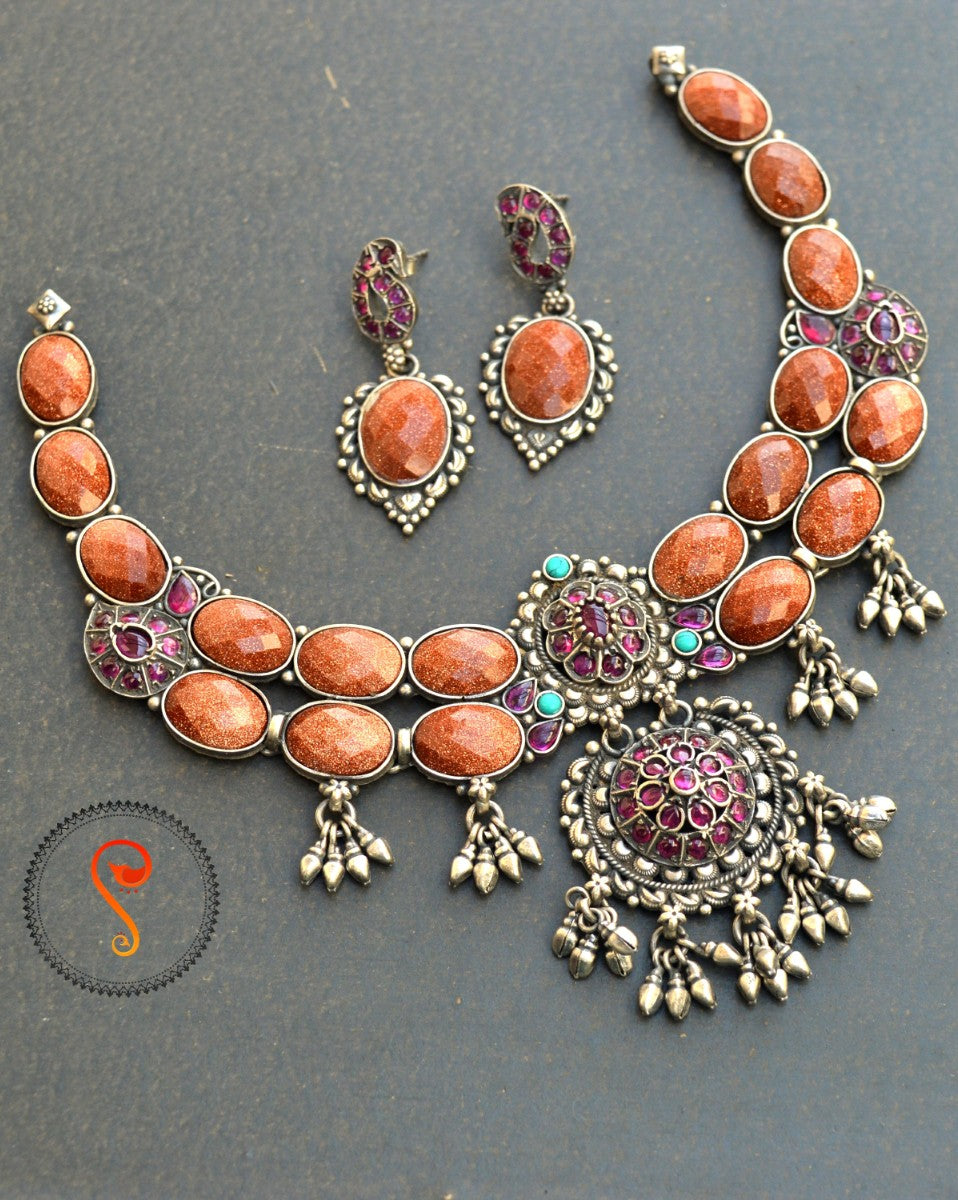 sandstone necklace set