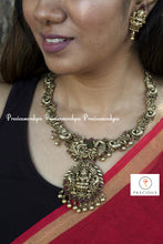 Load image into Gallery viewer, Ma lakshmi black andtique plating