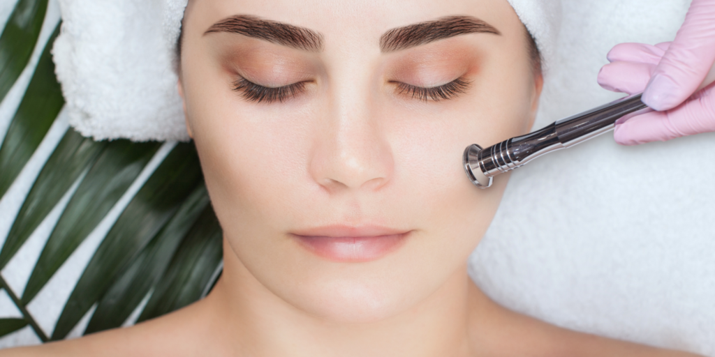woman getting microdermabrasion for oily skin