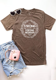 TSL - Strong Woman (Brown Heather) - Short Sleeve / Crew