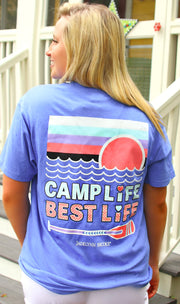 Camp Life Best Life (Periwinkle) - Short Sleeve / Crew