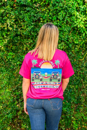 K&C - Adventures Are A Girls Best Friend (Berry) - Short Sleeve/Crew