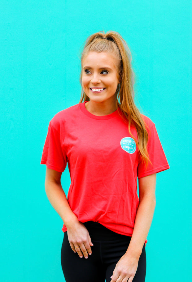 K&C - Love Generously (Deep Coral) - Short Sleeve/Crew
