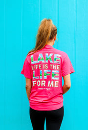 K&C - Lake Life Is Life For Me (Heliconia Heather) - Short Sleeve/Crew
