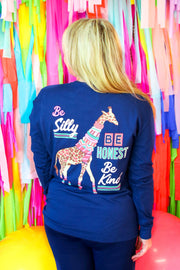 Be Silly, Be Honest, Be Kind (Navy) - Long Sleeve / Crew