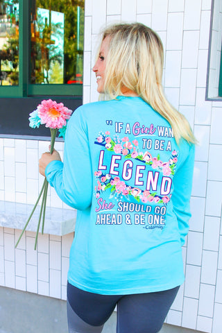 Legend Calamity Jane (Lagoon Blue) - Long Sleeve / Crew