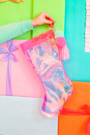 Holiday Stocking (Pink Iridescent)