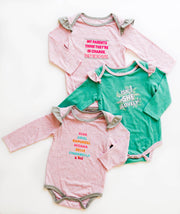 Tiny Tinies - She Just Shines (Chalky Mint Funfetti) - Onesie / Long Sleeve