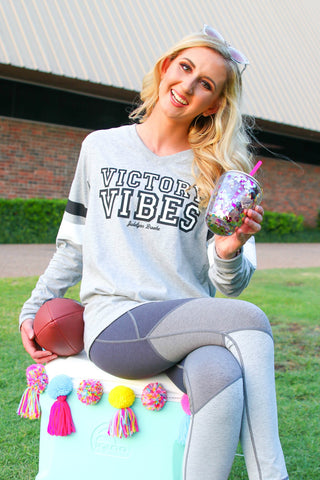 Victory Vibes (Heather Light Grey) - Long Sleeve