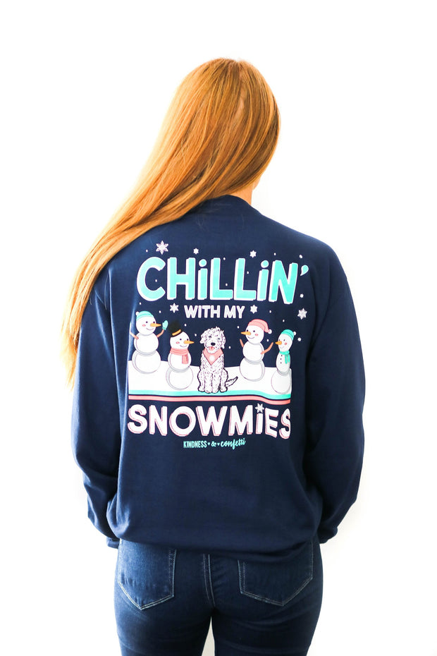 K&C - Chillin' With My Snowmies (Athletic Navy) - Long Sleeve / Crew