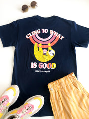 K&C - Cling To What Is Good (Athletic Navy) - Short Sleeve/Crew