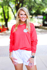 K&C - Kind Is The New Cool (Deep Coral) - Long Sleeve / Crew