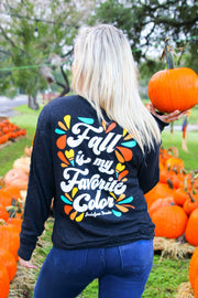 Fall Is My Favorite Color (Black Fleck) - Long Sleeve / V-Neck