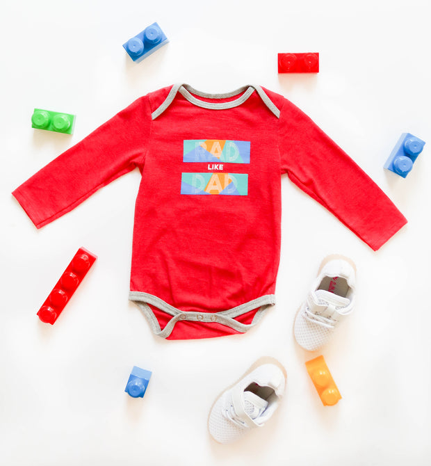 Rad Like Dad (Red Heather) - Onesie / Long Sleeve
