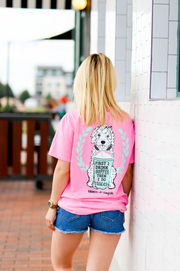K&C - First I Drink Coffee (Pink) - Short Sleeve/Crew